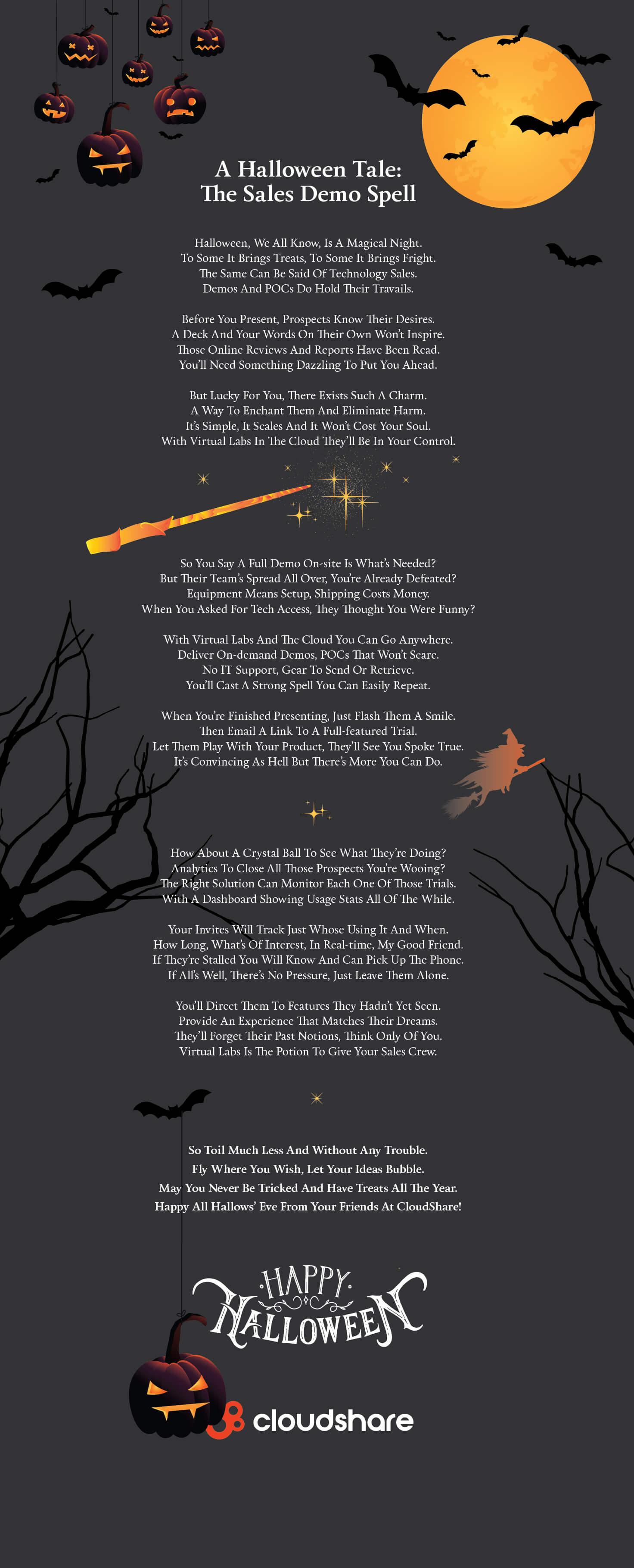 cloudshare halloween poem
