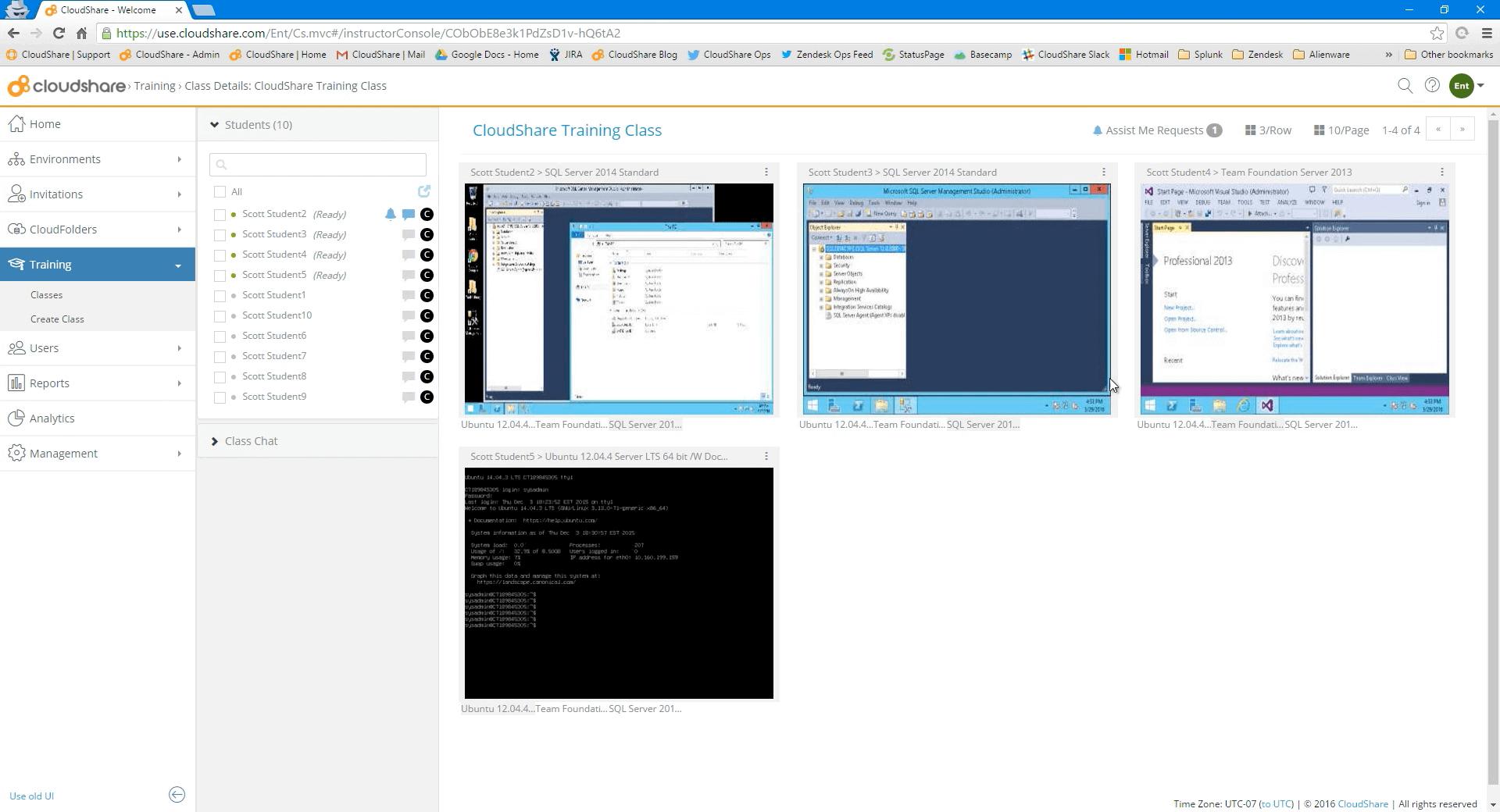 virtual training lab environment cloudshare